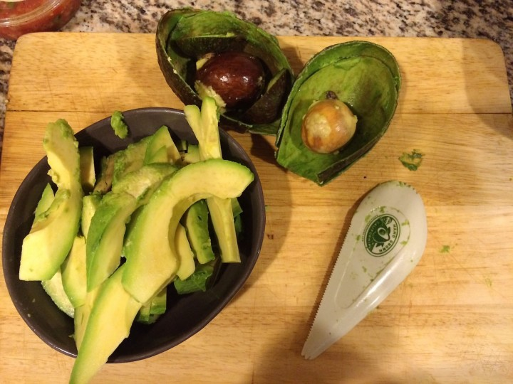 """We should have a little of that fresh avocado for dinner tonight"" – Tom. Cue me carving up two full avocados … that's a little, right?"