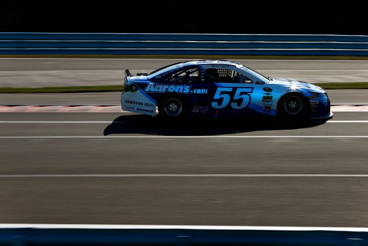 David Ragan, driver of the #55 Aaron's Dream Machine Online Version Toyota, practices for the NASCAR Sprint Cup Series Cheez-It 355 at Watkins Glen International on August 7, 2015 in Watkins Glen, New York. (Jonathan Ferrey/Getty Images)