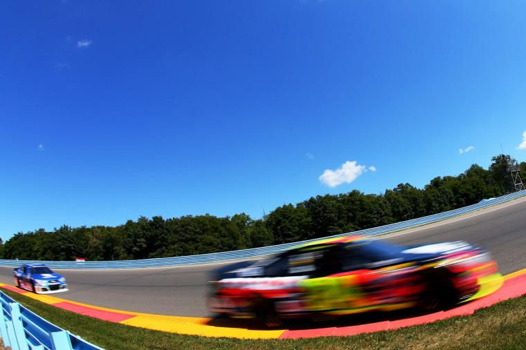 Jeff Gordon, driver of the #24 Axalta Chevrolet, races during the NASCAR Sprint Cup Series Cheez-It 355 at the Glen at Watkins Glen International on August 9, 2015 in Watkins Glen, New York. (Matt Sullivan/Getty Images)