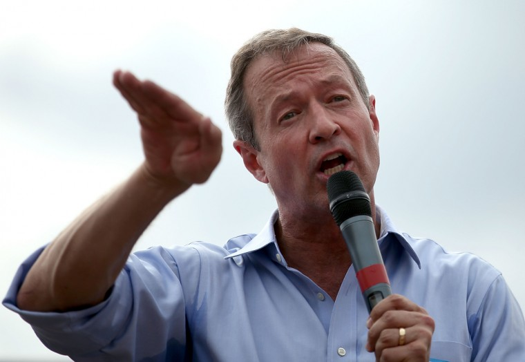 DES MOINES, IA - AUGUST 13: Democratic presidential hopeful and former Maryland Gov. Martin O'Malley speaks to fairgoers during the Iowa State Fair on August 13, 2015 in Des Moines, Iowa. Presidential candidates are addressing attendees at the Iowa State Fair on the Des Moines Register Presidential Soapbox stage. The State Fair runs through August 23. (Photo by Justin Sullivan/Getty Images)