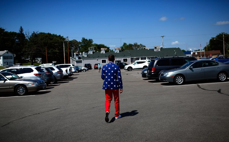 CLEAR LAKE, IA - AUGUST 14: Wing Ding Chairman Randy Black walks outside the Iowa Democratic Wing Ding site August 14, 2015 in Clear Lake, Iowa. The Wing Ding is held at the historic Surf Ballroom, where Buddy Holly and Ritchie Valens played their final concert, and will feature Democratic presidential candidates Hillary Clinton, Sen. Bernie Sanders (I-VT), Martin O'Malley and Lincoln Chaffee. (Photo by Win McNamee/Getty Images)