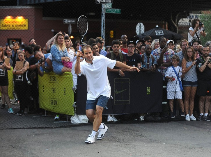 "Tennis player Pete Sampras attends Nike's ""NYC Street Tennis"" event on August 24, 2015 in New York City. (Brad Barket/Getty Images)"