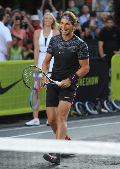 "Tennis player Rafael Nadal attends Nike's ""NYC Street Tennis"" Event on August 24, 2015 in New York City. (Brad Barket/Getty Images)"