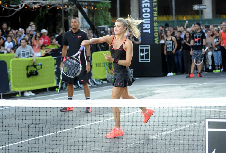 "Tennis player Genie Bouchard attends Nike's ""NYC Street Tennis"" Event on August 24, 2015 in New York City. (Brad Barket/Getty Images)"