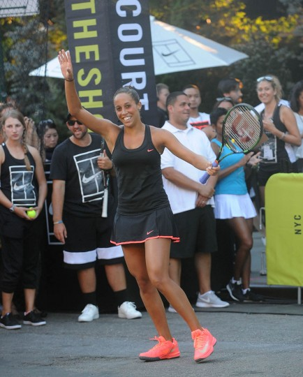 "Tennis player Madison Keys attends Nike's ""NYC Street Tennis"" Event on August 24, 2015 in New York City. (Brad Barket/Getty Images)"