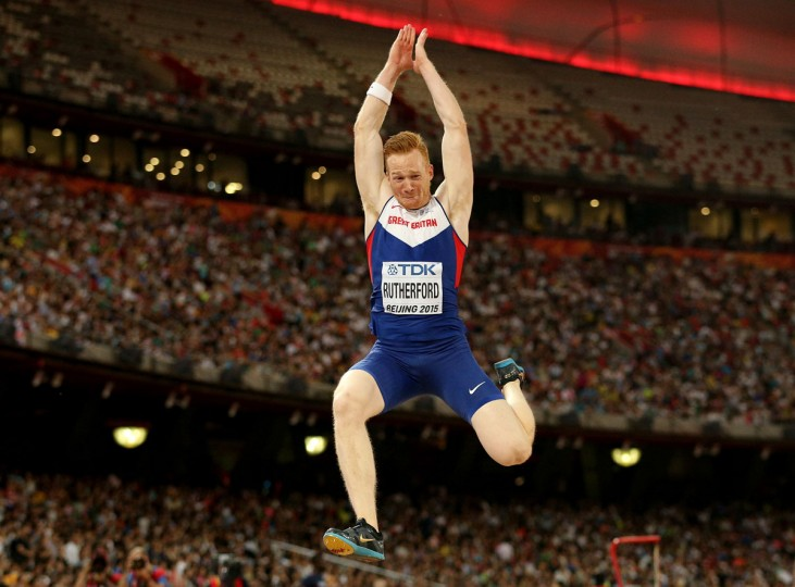 Greg Rutherford of Great Britain competes in the Men's Long Jump final during day four of the 15th IAAF World Athletics Championships Beijing 2015 at Beijing National Stadium on August 25, 2015 in Beijing, China. (Photo by Andy Lyons/Getty Images)