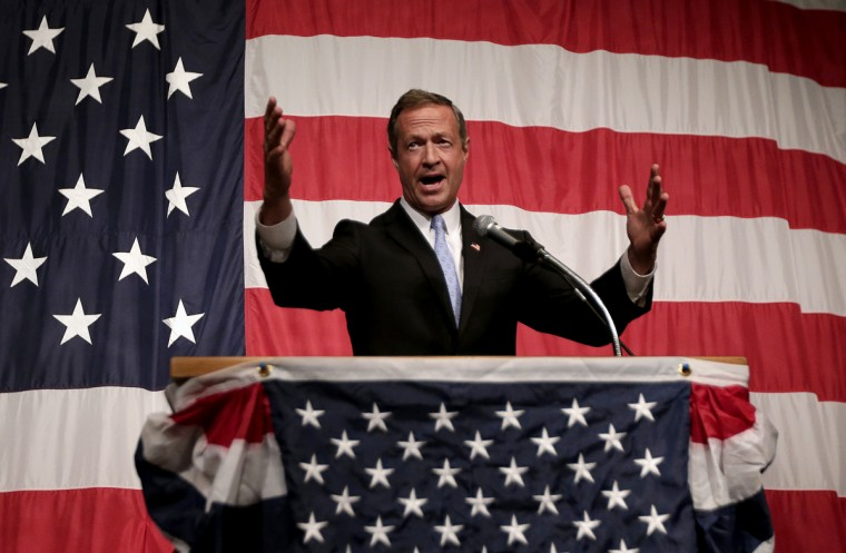 Democratic presidential candidate, former Maryland Gov. Martin O'Malley, speaks at the Iowa Democratic Wing Ding at the Surf Ballroom Friday, Aug. 14, 2015, in Clear Lake, Iowa. (AP Photo/Charlie Riedel)