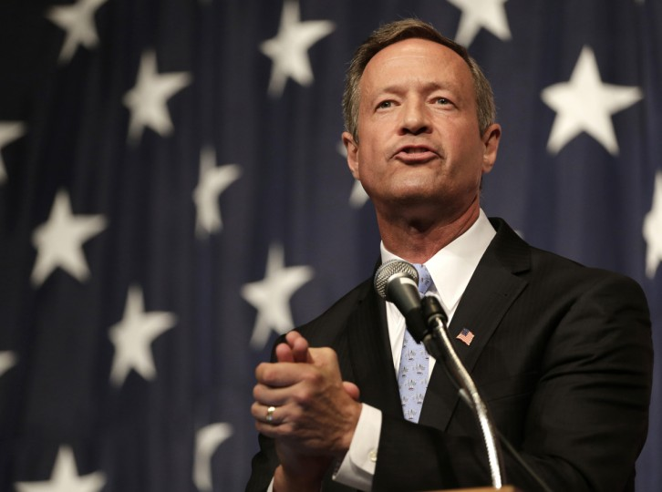 Democratic presidential candidate, former Maryland Gov. Martin O'Malley, speaks at the Iowa Democratic Wing Ding at the Surf Ballroom on Friday, Aug. 14, 2015, in Clear Lake, Iowa. (AP Photo/Charlie Riedel)