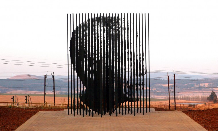 Aug. 5, 1962: Former South African PresidentNelson Mandela, whose likeness is displayed in this sculpture, is captured by apartheid police and remains in jail for 30 years. (AFP PHOTO / RAJESH JANTILALRAJESH JANTILAL/AFP/GettyImages)