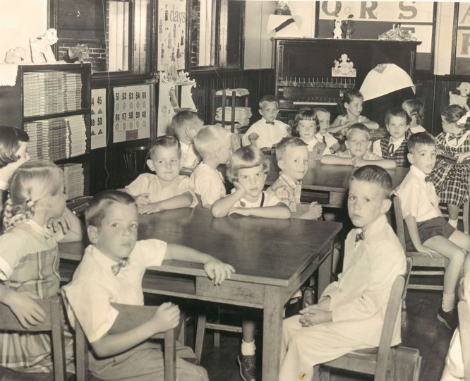 First day of school at Cathedral School. (Albert Cochran/Baltimore Sun, 1956)