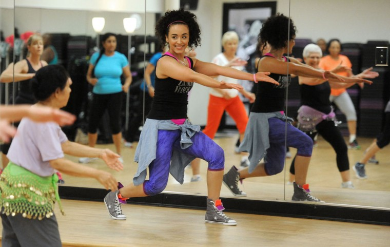 Marili Mejias is a zumba instructor at Brick Bodies. Learn more about her. (Kim Hairston/The Baltimore Sun)