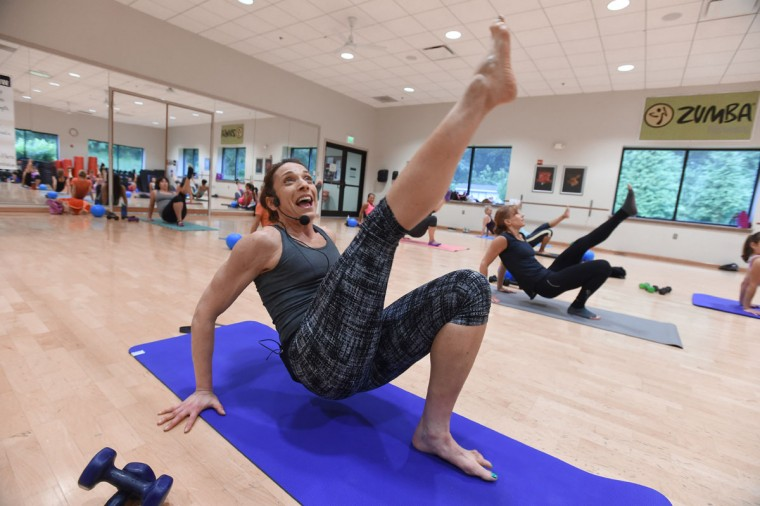 Larisa Unger is a group fitness instructor, with specialties in indoor cycling, Pilates and barre classes at JCC and other locations. Learn more about her. (Kenneth K. Lam/Baltimore Sun)