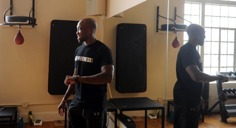 Guy Cragwell is a personal trainer and group fitness instructor at Federal Hill Fitness. Learn more about him. (Barbara Haddock Taylor/Baltimore Sun)