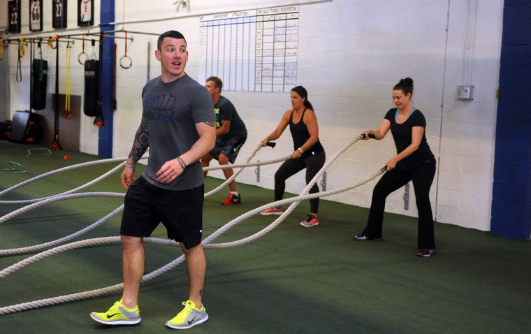 Nick Ehrlich is a personal trainer, boxing and nutrition coach, and boot camp instructor at Sweat Performance. Learn more about him. (Barbara Haddock Taylor/Baltimore Sun)