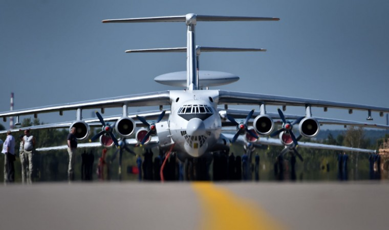 Technicians prepare Ilyushin Il-76TD long-haul cargo aircrafts for the upcoming MAKS-2015, the International Aviation and Space Show, in Zhukovsky, outside Moscow, on August 21, 2015. The MAKS-2015 will be held in Zhukovsky from August 25 to 30. (KIRILL KUDRYAVTSEV/AFP/Getty Images)