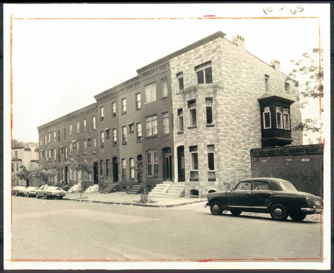 A view of Lennox Street in Reservoir Hill on Sept. 18, 1972. (Baltimore Sun photo by Walter McCardell)