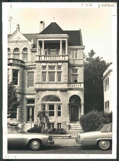 A Reservoir Hill rowhouse is pictured on June 29, 1980. (Baltimore Sun photo by William L. Klender)