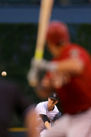 Starting pitcher Kyle Kendrick #38 of the Colorado Rockies delivers to home plate during the first inning against the Arizona Diamondbacks at Coors Field on September 1, 2015 in Denver, Colorado. (Photo by Justin Edmonds/Getty Images)