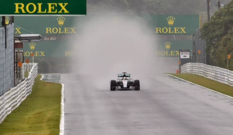 Mercedes driver Lewis Hamilton of Britain drives his car during the first practice session of the Formula One Japanese Grand Prix at the Suzuka circuit on September 25, 2015. (Kazuhiro Nogi/Getty Images)