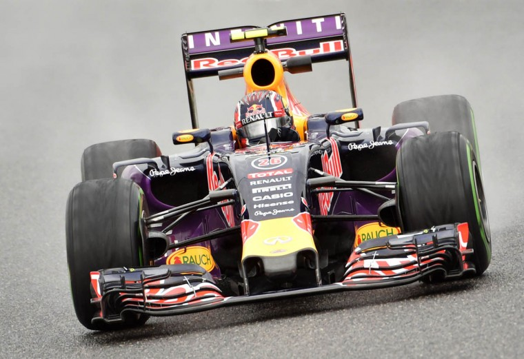 Red Bull driver Daniil Kvyat of Russia drives his car during the second practice session of the Formula One Japanese Grand Prix at the Suzuka circuit on September 25, 2015. (Kazuhiro Nogi/Getty Images)