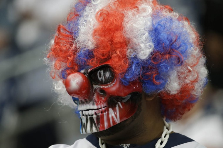 A Houston Texans fan is shown before an NFL football game Sunday, Sept. 13, 2015, in Houston. (David J. Phillip/AP photo)