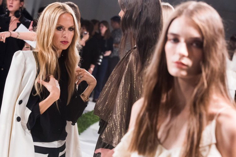 Designer Rachel Zoe attends the rehearsal for her Spring/Summer 2016 fashion show during Fashion Week on Sunday, Sept. 13, 2015 in New York. (Charles Sykes/Invision/AP)