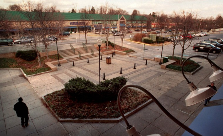 2000 - Residents in Northeast Baltimore are looking at the status of the troubled Belvedere Square shopping center, and recent actions by the city to bring in a new owner. (Amy Davis/Baltimore Sun)