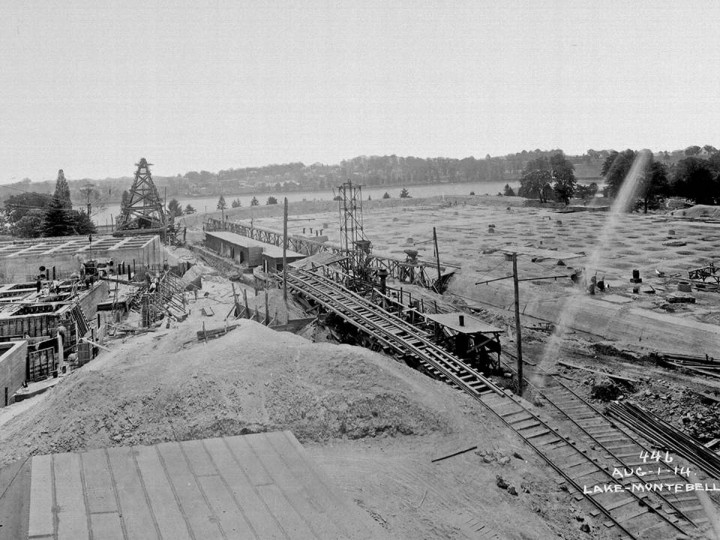A view of Lake Montebello on Aug. 1, 1914. (Photo courtesy of the Baltimore Department of Public Works)