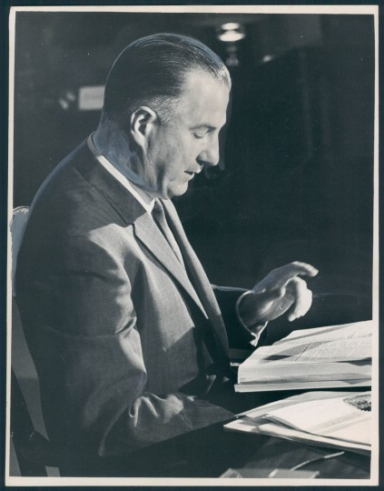 "Governor Spiro Agnew: ""I hereby direct that Bowie State College be closed..."" (Hutchins/Baltimore Sun, 1968)"