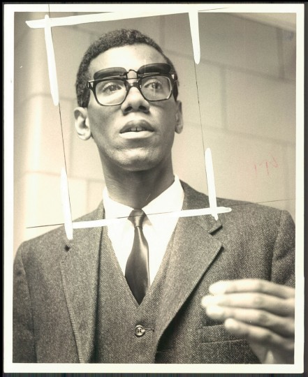 Roland B. Smith, student body president at Bowie State College. (Lloyd Pearson/Baltimore Sun, 1968)