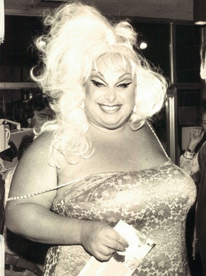 "Divine at the premiere of ""Polyester."" (Baltimore Sun archives, 1981)"