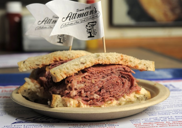 Attman's Top 10 of the last 100. No. 2 Cloak & Dagger. The Attman's Delicatessen is celebrating 100 years in business since opening its doors in 1915. (Lloyd Fox/Baltimore Sun/March 25, 2015)
