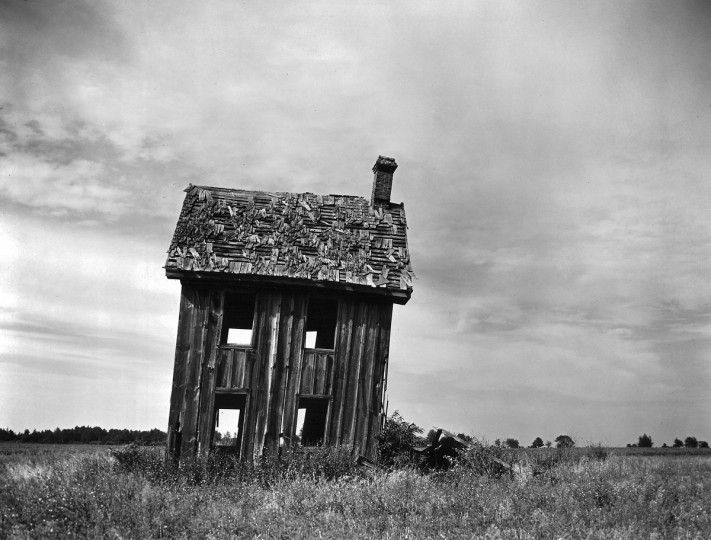 1966 - To a photographer, the picturesque scene justifies itself. So, happened upon during Maryland travels, this striking ruin was taken by Bodine. (A. Aubrey Bodine/Baltimore Sun)