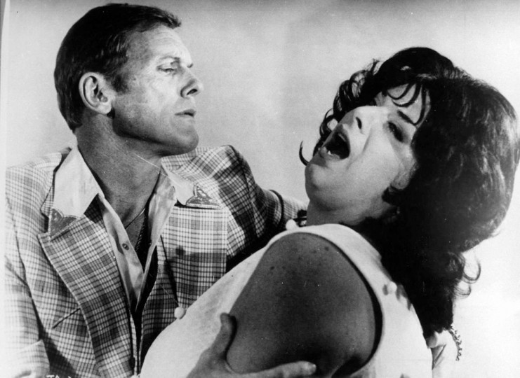"Tab Hunter and Divine in John Waters film, ""Polyester."" (Handout photo)"