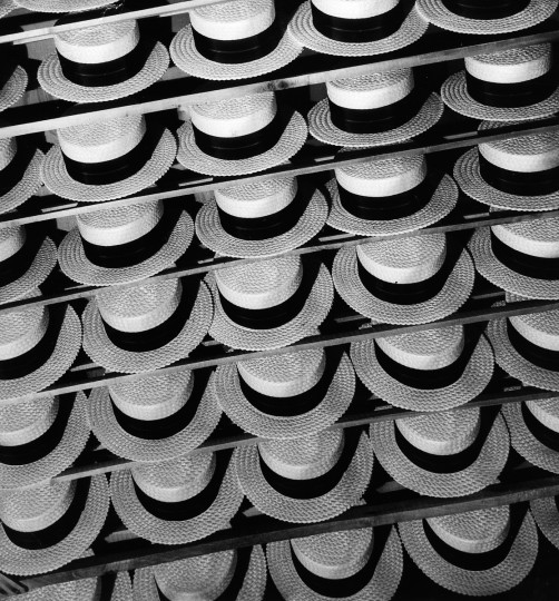 1936 - Straw hats on display at the Charcol Club gallery, 853 Linden Ave. (A. Aubrey Bodine/Baltimore Sun)