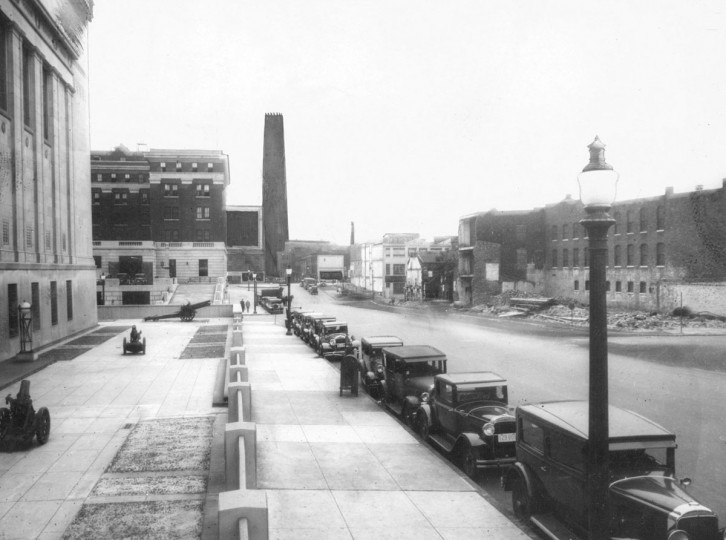 The Shot Tower is photographed in August 1929. (Baltimore Sun file photo)