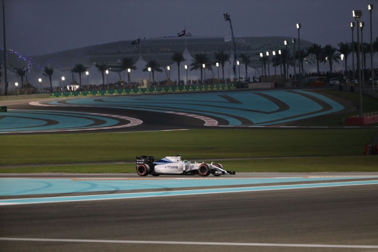 Williams Martini Racing's Finnish driver Valtteri Bottas drives during the second practice session at the Yas Marina circuit in Abu Dhabi on November 27, 2015 ahead of the Abu Dhabi Formula One Grand Prix. (KARIM SAHIB/AFP/Getty Images)