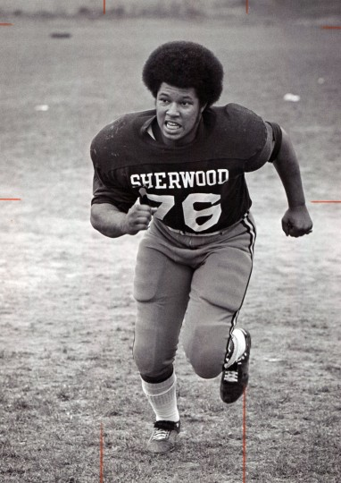 Wayne Parrott, linebacker for Sherwood. (Paul Hutchins/Baltimore Sun, 1971)