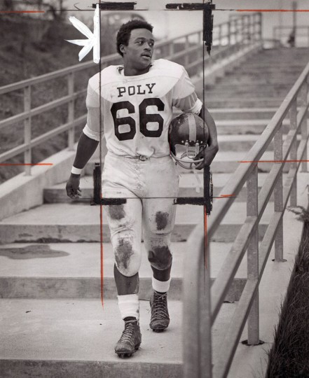 Larry Jones, running back for Poly. (Paul Hutchins/Baltimore Sun, 1970)