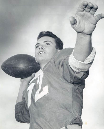Veteran Edmondson quarterback, Ken Hessenel, is facing a third season at the helm. (William Mortimer/Baltimore Sun, 1963)