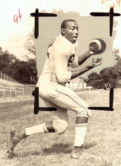 Edmondson High School tight end Lou Cherry. (Ellis Malashuk/Baltimore Sun, 1966)