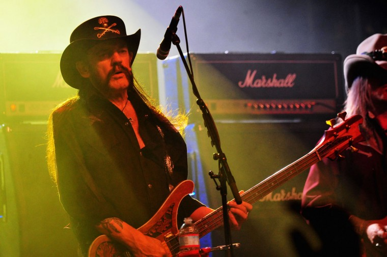 Musician Lemmy Kilmister of Motorhead performs onstage during day 3 of the 2014 Coachella Valley Music & Arts Festival at the Empire Polo Club on April 20, 2014 in Indio, California. (Frazer Harrison/Getty Images for Coachella)