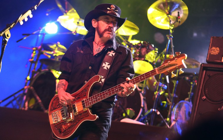 Motorhead's Lemmy Kilmister performs on stage for day three of the Coachella Valley Music and Arts Festival in Indio, Calif., in 2014. Kilmister has died at age 70. (Brian van der Brug/Los Angeles Times/TNS)