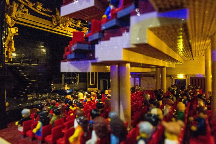 A production of Phantom of the Opera takes place in a Lego Her Majesties Theatre, made out of 57,992 bricks over 11 months at ExCel on December 10, 2015 in London, England. (Photo by Chris Ratcliffe/Getty Images)