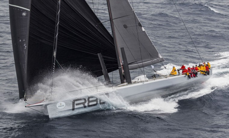 In this handout photo from Rolex, Supermaxi yacht Rambler competes in the Sydney to Hobart yacht race in Sydney on December 26, 2015. (STEFANO GATTINI/AFP/Getty Images)
