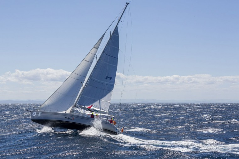 This handout photo from Rolex, shows Helsal 3 competing in the Sydney to Hobart yacht race on December 27, 2015. (STEFANO GATTINI/AFP/Getty Images)