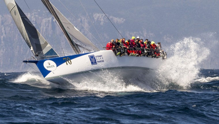 This handout photo from Rolex taken on December 29, 2015 shows Ragamuffin 52 during the Sydney to Hobart yacht race. (STEFANO GATTINI/AFP/Getty Images)