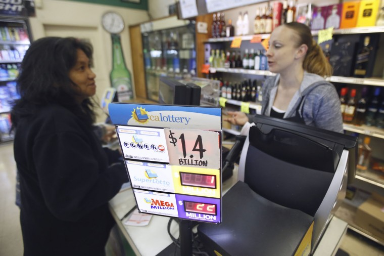 The estimated Powerball jackpot is displayed at Lichine's Liquor Store Wednesday, Jan. 13, 2016, in Sacramento, Calif. The Powerball jackpot for Wednesday night's drawing could go over $1.5 billion, the largest lottery jackpot in the world. (AP Photo/Rich Pedroncelli)