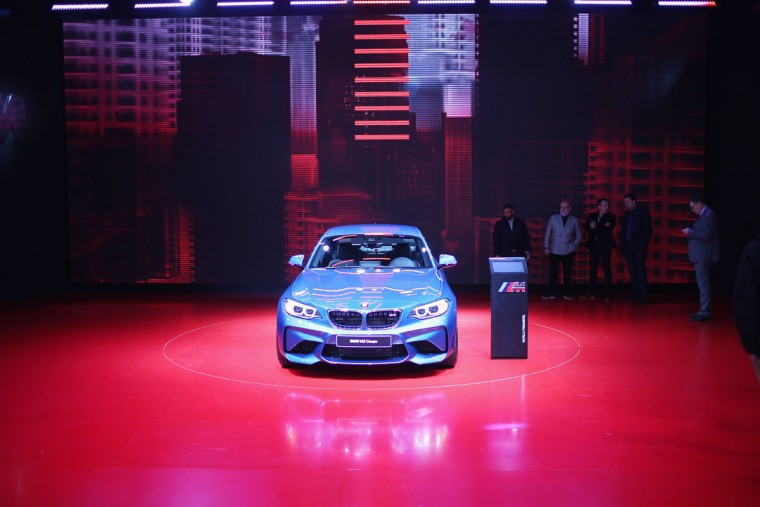BMW shows off the new M2 Coupe at the North American International Auto Show on January 12, 2016 in Detroit, Michigan. The show is open to the public from January 16-24. (Photo by Scott Olson/Getty Images)