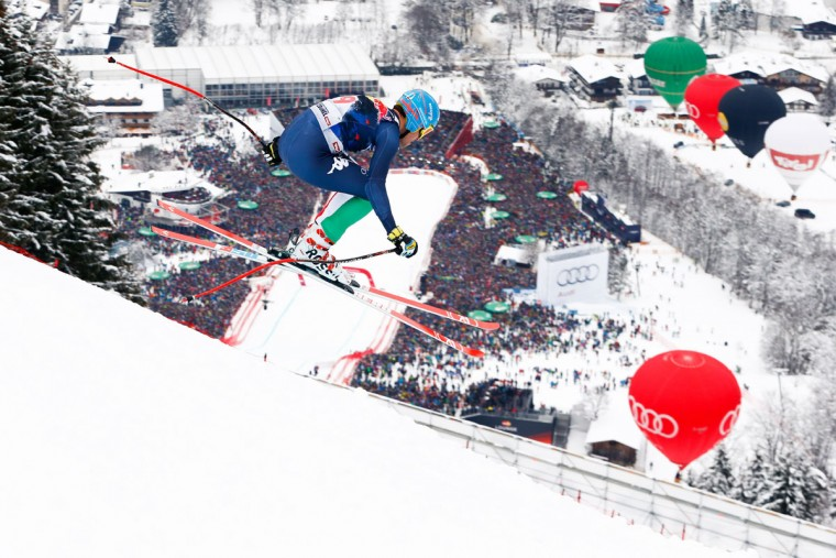 Christof Innerhofer of Italy competes during the Audi FIS Alpine Ski World Cup Men's Downhill on January 23, 2016 in Kitzbuehel, Austria. (Photo by Christophe Pallot/Agence Zoom/Getty Images)